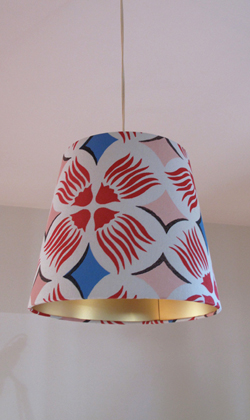 Penny Malone Hand stenciled lamp shade