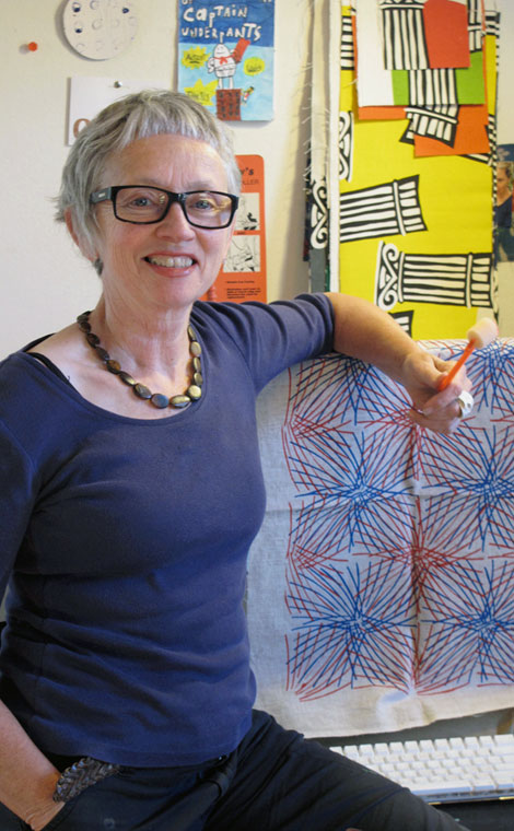 Penny Malone in her studio